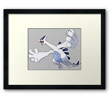 pokemon lugia legendary bird anime manga shirt Framed Print