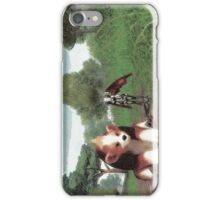 Batgirl and bear iPhone Case/Skin