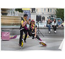 Witty Look perform in Trafalgar Square during the Buskin London Festival Poster