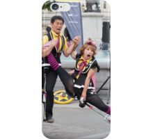 Witty Look perform in Trafalgar Square during the Buskin London Festival iPhone Case/Skin
