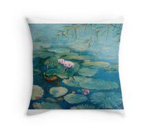 Waterlilies - Topaz Throw Pillow