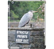 Herons Don't Read iPad Case/Skin