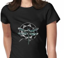 Dragonfly circle Womens Fitted T-Shirt