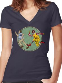 Fast Food Women's Fitted V-Neck T-Shirt