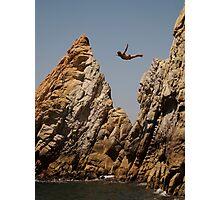 Acapulco Diver Photographic Print