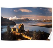 Eilean Donan Castle and the Isle of Skye, Winter. Highland Scotland. Poster