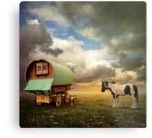 Gypsy Wagon Metal Print