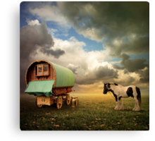 Gypsy Wagon Canvas Print