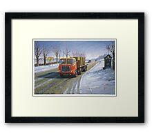 AEC Mandator in the snow. Framed Print