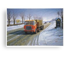 AEC Mandator in the snow. Canvas Print
