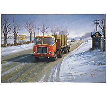 AEC Mandator in the snow. Photographic Print