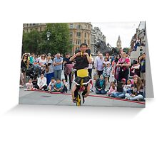 Witty Look perform in Trafalgar Square during the Buskin London Festival Greeting Card