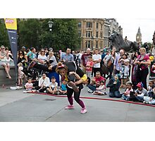 Witty Look perform in Trafalgar Square during the Buskin London Festival Photographic Print