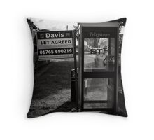 Location, location means everything Throw Pillow