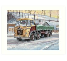 Foden S20 at the Jungle cafe Art Print