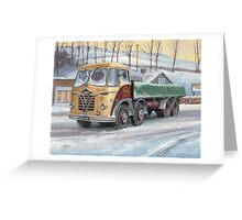 Foden S20 at the Jungle cafe Greeting Card