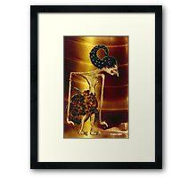 Javanese Wayang Golek  portrait Framed Print