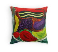 Fruit of the Expressionists Throw Pillow