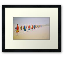 Deauville Beach Normandy by Heather Holland Framed Print