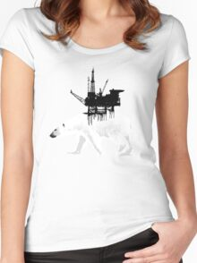 Save the Polar Bear Women's Fitted Scoop T-Shirt
