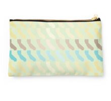 California Pattern Blue Gold Brown Gradient Studio Pouch