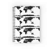 Map of the World Spiral Notebook
