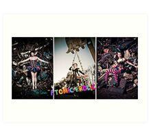 Atomic Frolic Triptych Art Print