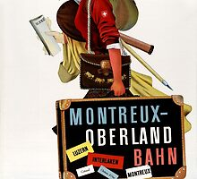 Switzerland Vintage Travel Poster by Carsten Reisinger