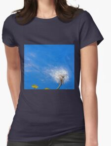 Diaspora - dandelion seeds in the wind Womens Fitted T-Shirt