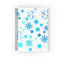 Delicate Blue Fowers Spiral Notebook