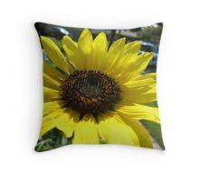 Sunflower Marquee Throw Pillow