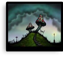 The Old Mushroom House Canvas Print