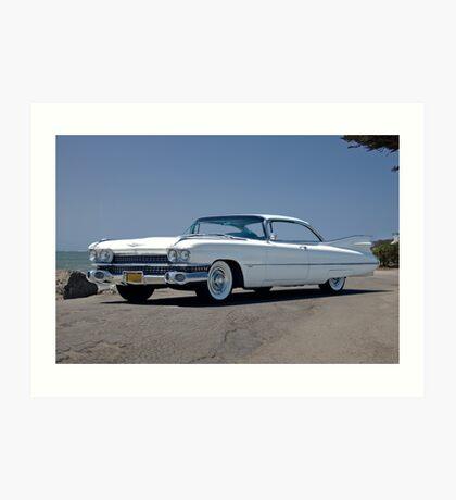 1959 Cadillac Coupe DeVille Art Print