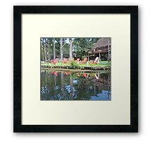 The Red Chairs Framed Print