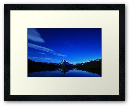 Matterhorn Midnight Reflection by Dominic Kamp