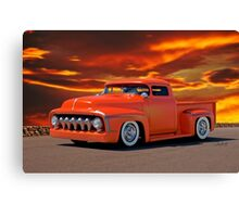 1956 Ford Custom Pickup Canvas Print