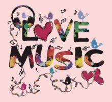 LOVE MUSIC One Piece - Long Sleeve