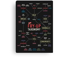 Fry up taxonomy Canvas Print