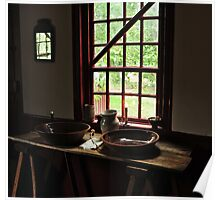 Noah Webster house, dinning room window Poster