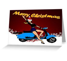 Lambretta Christmas (2) Greeting Card