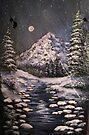 Midnight Winter Stream by teresa731