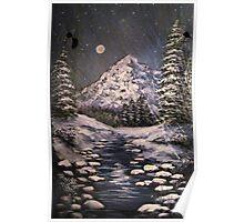 Midnight Winter Stream Poster