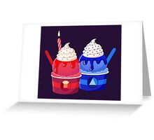 Universe Ice Cream - Made Of Love Greeting Card