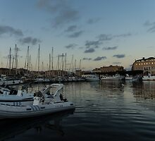 As the Evening Gently Comes - Ortygia, Syracuse, Sicily Grand Harbor  by Georgia Mizuleva