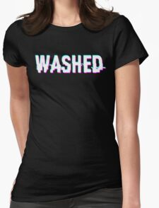 WASHED - GLITCH - TYPOGRAPHY - CLEAN Womens Fitted T-Shirt