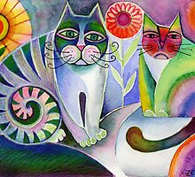 A pair of cats by Karin Zeller