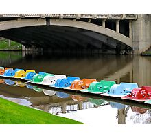 Colourful boats of the Torrens Photographic Print