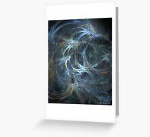 Blue Swish - Abstract Fractal Art Greeting Card