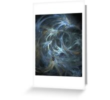 Blue Swish - Abstract Fractal Art Greeting Card