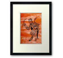 Orange Devil Framed Print